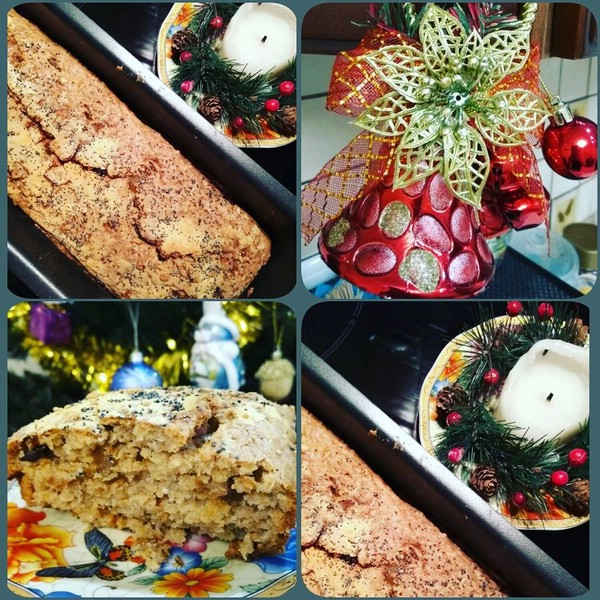 Штоллен с сухофруктами и орешками