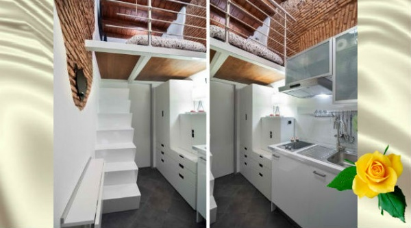 Взгляните на дизайн популярной квартиры в 8м² в Париже